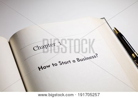 fake book. chapter one How to start a business?