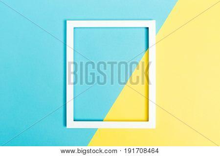 Empty Frame On A Bright Split Background