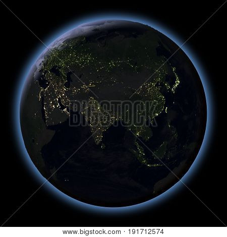 Asia From Space At Night