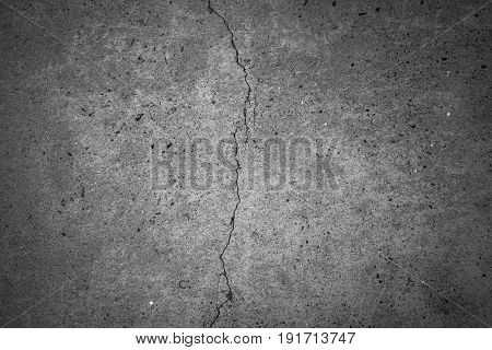 Crack cement texture background crack old cement.