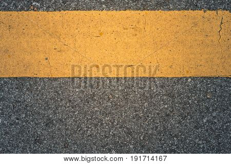 Asphalt road texture line yellow background, Concept asphalt road.