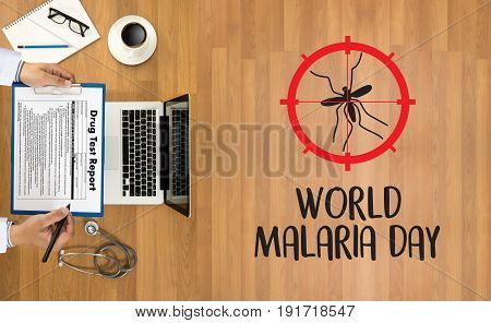 Malaria Mosquito Sucking Blood World Malaria Day Zika Virus Alert