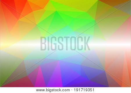 Light Rainbow Low Poly Background