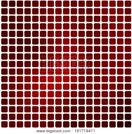 Deep Burgundy Red Rounded Mosaic Background Over White Square