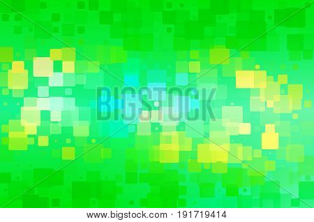 Green Teal Blue Yellow Glowing Various Tiles Background