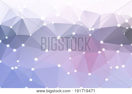 Pink Grey Geometric Background With Lights