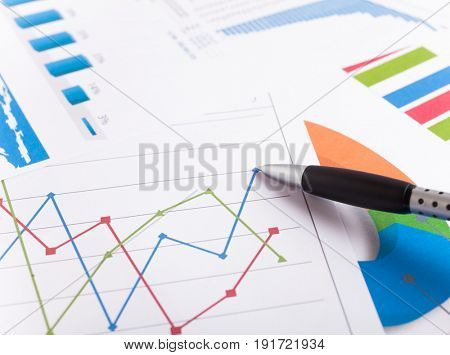 Close-up of a business report