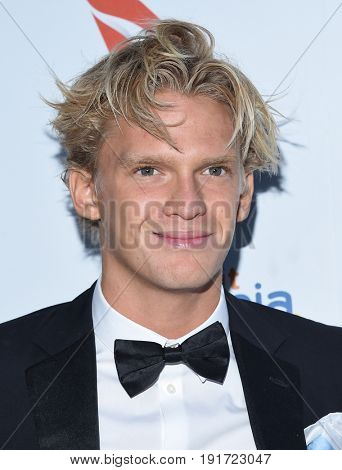 LOS ANGELES - JUN 01:  Cody Simpson arrives for the 9th Annual Heath Ledger Scholarship Dinner on June 1, 2017 in West Hollywood, CA