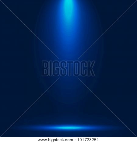 Abstract luxury blue gradient with lighting background Studio backdrop well use as black backdrop Vector Illustration.