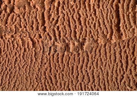 Chocolate cocoa ice cream brown texture background