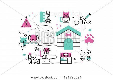 Animal Shelter Illustrations