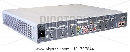 Digital video recorder isometric view isolated on the white background