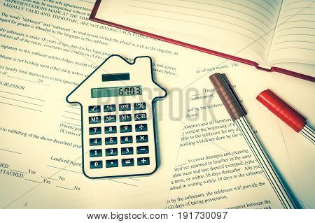 Calculator And Contract - Insurance, Rent And Buying Car