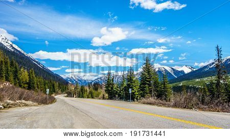 Highway 99, also called The Duffey Lake Road, as it winds its way through the Coast Mountain Range between Pemberton and Lillooet in southern British Columbia