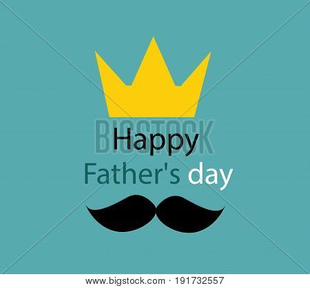 father's day greeting template illustration art design