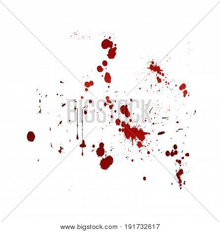 blood splat abstract illustration on white background