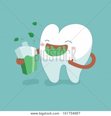 Rinse your mouth out, tooth concept of dental