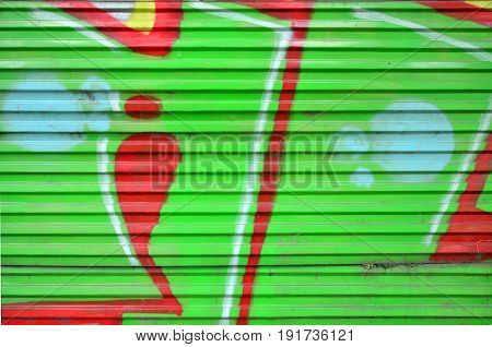 Art Under Ground. Beautiful Street Art Graffiti Style. The Wall Is Decorated With Abstract Drawings