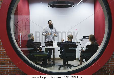 Business people working workplace corporation