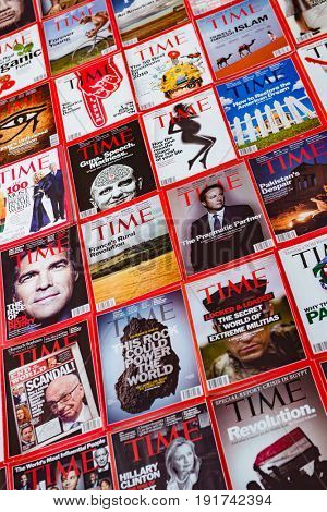New York - MARCH 7, 2017: Time Magazine on March 7 in New York,