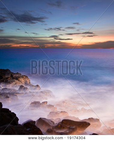 Sunset on the Big Island. Hawaii. USA poster