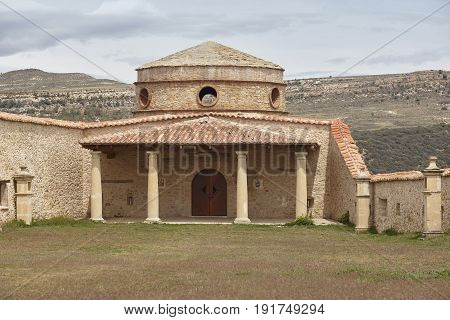 Antique restored templar castle in Cantavieja Teruel. Spanish heritage