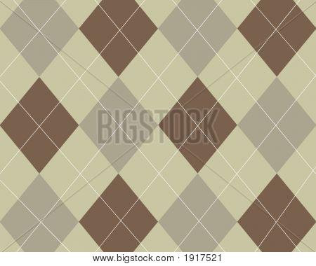Tan Brown Grey Argyle Design