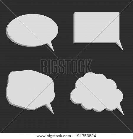 Speaking balloons. Set of vector illustration icons