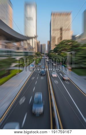 urban traffic road with cityscape in modern city of China.
