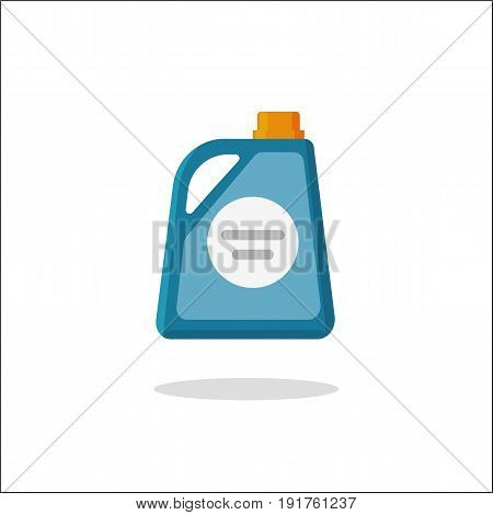 Detergent bottle vector icon, flat cartoon style chemical container illustration isolated on white background