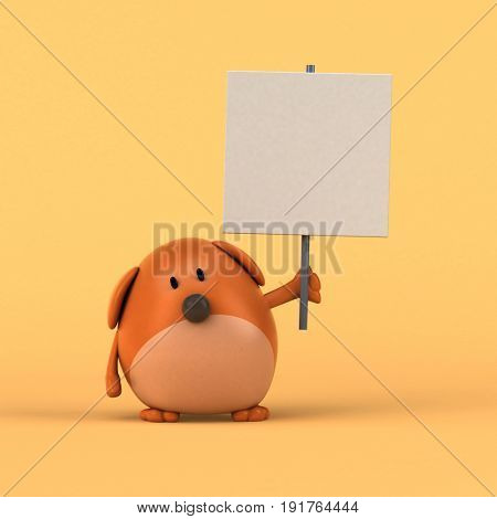 Cartoon dog - 3D Illustration