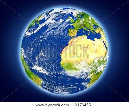 Western Sahara On Planet Earth