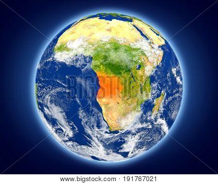 Angola On Planet Earth