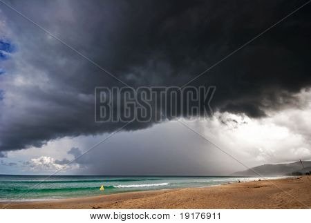 Bad weather around tropical island. Phuket island. Thailand