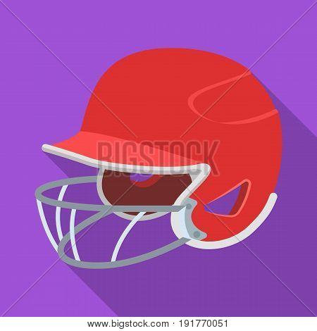 Baseball helmet. Baseball single icon in flat style vector symbol stock illustration .