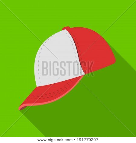 Baseball cap. Baseball single icon in flat style vector symbol stock illustration .
