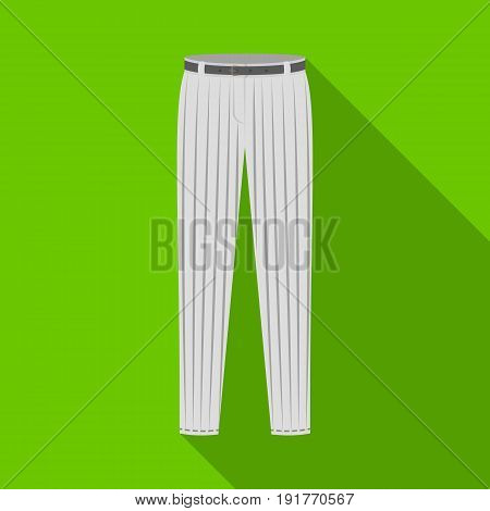 Uniform pants baseball. Baseball single icon in flat style vector symbol stock illustration .