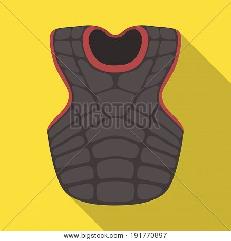 Vest baseball. Baseball single icon in flat style vector symbol stock illustration .