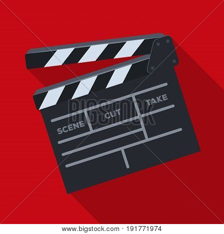 Movie cracker.Making movie single icon in flat style vector symbol stock illustration .