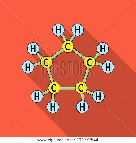 Chemical oil formula.Oil single icon in flat style vector symbol stock illustration .