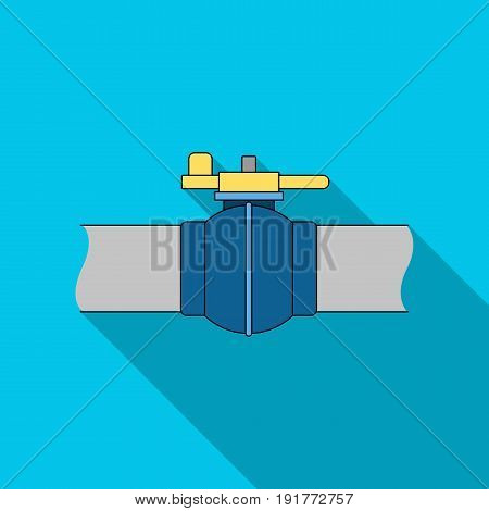 Pipeline shutter.Oil single icon in flat style vector symbol stock illustration .