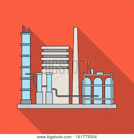 Refinery.Oil single icon in flat style vector symbol stock illustration .