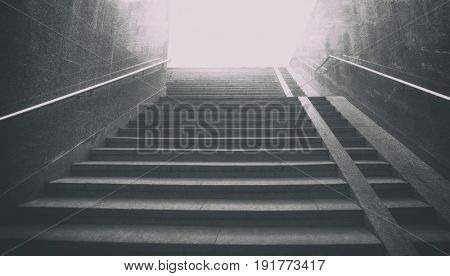 Lonely stairs rising up
