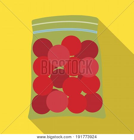 Balls for paintball.Paintball single icon in flat style vector symbol stock illustration .