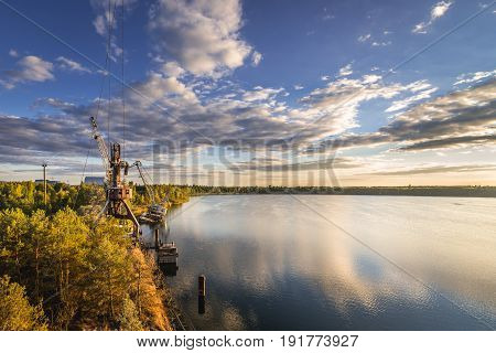 Yanov Backwater in Chernobyl Exclusion Zone Ukraine