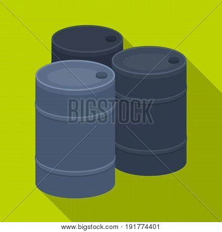 Barricade of empty barrels.Paintball single icon in flat style vector symbol stock illustration .