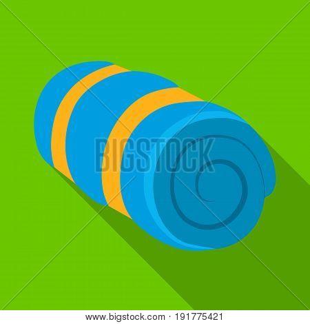 Mattress tourist.Tent single icon in flat style vector symbol stock illustration .