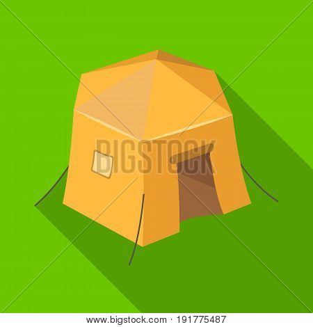 Tourist tent.Tent single icon in flat style vector symbol stock illustration .