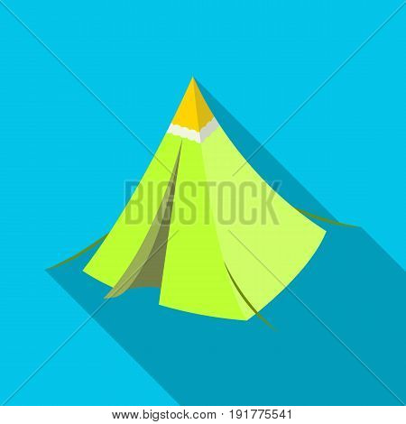 Tent cone.Tent single icon in flat style vector symbol stock illustration .
