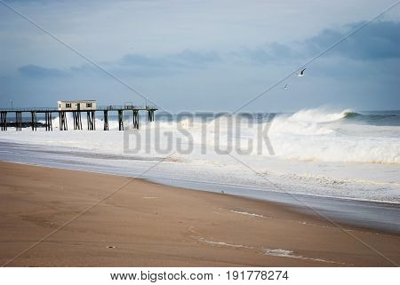 The old Belmar fishing pier as seen in 2010 along the Jersey shore.